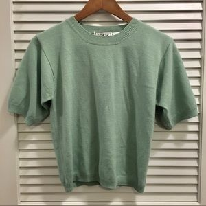 Vintage sweater shirt in sea foam green